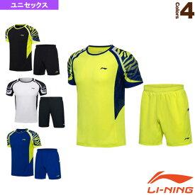 ゲームシャツ+ハーフパンツ セット/ユニセックス(AATN013)《リーニン テニス・バドミントン ウェア(メンズ/ユニ)》