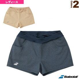 デニムショートパンツ/カラープレイライン/レディース(BTWMJD00)《バボラ テニス・バドミントン ウェア(レディース)》