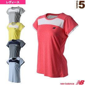 クルーネックショートスリーブメッシュゲームシャツ/レディース(JWTT8508)《ニューバランス テニス・バドミントン ウェア(レディース)》