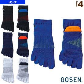 5本指ショートソックス/メンズ(F1908)《ゴーセン テニス・バドミントン ウェア(メンズ/ユニ)》