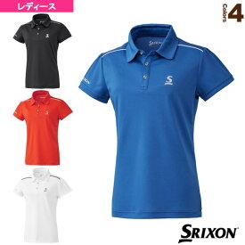 ポロシャツ/クラブライン/レディース(SDP-1930W)《スリクソン テニス・バドミントン ウェア(レディース)》
