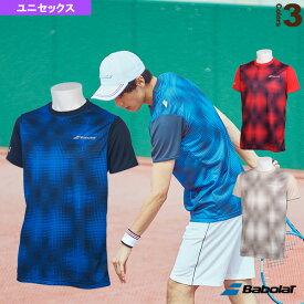 ショートスリーブシャツ/カラープレイライン/ユニセックス(BTUNJA10)《バボラ テニス・バドミントン ウェア(メンズ/ユニ)》