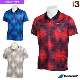 ショートスリーブシャツ/カラープレイライン/ユニセックス(BTUNJA11)《バボラ テニス・バドミントン ウェア(メンズ/ユニ)》