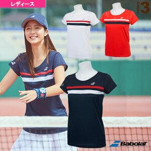 ショートスリーブシャツ/カラープレイライン/レディース(BTWNJA07)《バボラ テニス・バドミントン ウェア(レディース)》