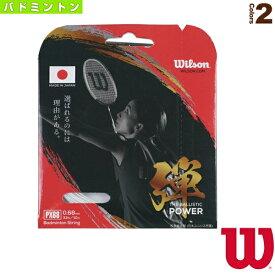 PX68/弾/THE BALLISTIC POWER(WR850040)《ウィルソン バドミントン ストリング(単張)》ガット