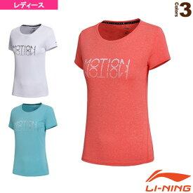 トレーニングTシャツ/レディース(ATSN042)《リーニン テニス・バドミントン ウェア(レディース)》