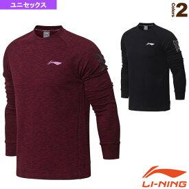 トレーニングTシャツ/長袖/ユニセックス(AWDN025)《リーニン テニス・バドミントン ウェア(メンズ/ユニ)》