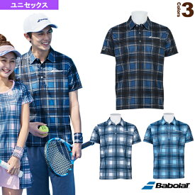 ショートスリーブシャツ/カラープレイライン/ユニセックス(BTUOJA07)《バボラ テニス・バドミントン ウェア(メンズ/ユニ)》