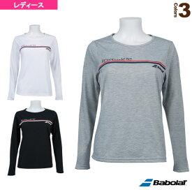ロングスリーブシャツ/カラープレイライン/レディース(BTWOJB30)《バボラ テニス・バドミントン ウェア(レディース)》