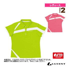 ゲームシャツ/JTTA公認マーク付/レディース(XLP-494P)《ルーセント 卓球 ウェア(レディース)》