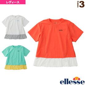 2020年04月上旬【予約】ショートスリーブパンチングクロップシャツ/SS Punching Crop Shirts/レディース(EW00115)《エレッセ テニス・バドミントン ウェア(レディース)》