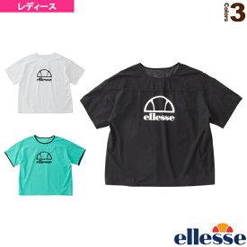 2020年04月上旬【予約】ショートスリーブロゴパンチングシャツ/SS Logo Punching Shirts/レディース(EW00116)《エレッセ テニス・バドミントン ウェア(レディース)》予約