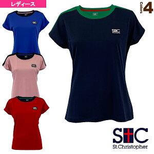ショルダーカラープラクティスTシャツ/レディース(STC-BKW2155)《セントクリストファー テニス・バドミントン ウェア(レディース)》