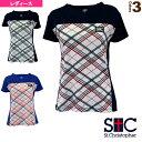 オブリークチェックゲームシャツ/レディース(STC-BKW2171)《セントクリストファー テニス・バドミントン ウェア(…