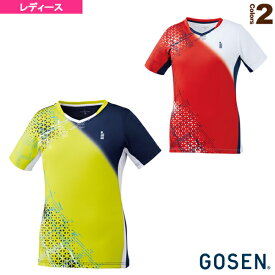 ゲームシャツ/レディース(T2003)《ゴーセン テニス・バドミントン ウェア(レディース)》