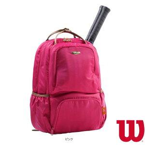 W BEAR BACKPACK 13POCKETS/ウィルソンベア バックパック 13ポケット/ラケット2本収納可/PINK(WR8007803001)《ウィルソン テニス バッグ》