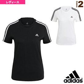 W ESS 3ストライプス Tシャツ/レディース(28870)《アディダス オールスポーツ ウェア(レディース)》