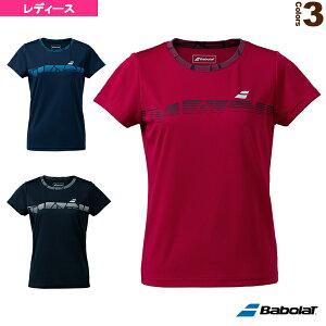 VS SHORT SLEEVE SHIRT/半袖ゲーム・プラクティス兼用シャツ/レディース(BWP1571)《バボラ テニス・バドミントン ウェア(レディース)》