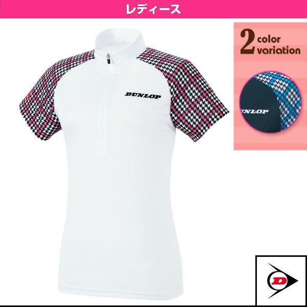 ジップシャツ/レディース(TDP-1420W)《ダンロップ テニス・バドミントン ウェア(レディース)》