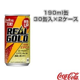 【送料込み価格】リアルゴールド 190ml缶/30缶入×2ケース(45291)《コカ・コーラ オールスポーツ サプリメント・ドリンク》