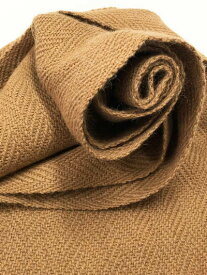 本場、南米アンデス産の、スーパーファインアルパカ100%使用。[美しい手編みマフラー]アルパカ100%マフラー/ベージュ