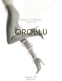 【メール便OK】OROBLU/オロブル[インポート・サポートストッキング/イタリア製]シャリ感のある、快適な履き心地。おしり、まあるくアップします。オロブル/レポス70