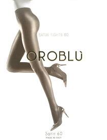 【メール便OK】OROBLU/オロブル[インポート・プレーンタイツ/イタリア製]サテンのように、上品に輝タイツ。タイツとしての機能も、しっかり確保。60デニール。オロブル/サテン60
