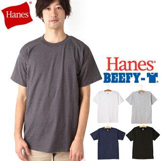 ★6.1oz的頸圍在布料◎丈夫結實地擅長洗衣的★Hanes T恤B費郵購hanes beefy棉布人6.1