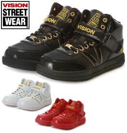 シューズ 子供用 黒 ダンス用シューズ ジュニア ダンススニーカー ビジョンスニーカー 通販 ヴィジョンスニーカー ダンス スニーカー ビジョン VISION ヴィジョン キッズダンスシューズ 白 ハイカット キッズ ヒップホップ 靴 92005011-6 vko-501