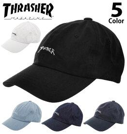 キャップ スラッシャー THRASHER 定番 GONZ MAG SPORTS CAP メンズ レディース 帽子 cap Dad HAT ゴンズ マグ ローキャップ low コットンキャップ 6パネル 6-PANEL CAP デニム コットン シンプル ロゴ LOGO 刺繍 ウォッシュ ストリート カジュアル ストラップバック
