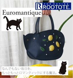 Rootote ルートート トートバッグ 定番 デリ DELI トートバッグ ネコ 合成皮革 アニマル レモン おしゃれ 小さめ かわいい サブバッグ 手提げ