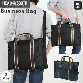 ビジネスバッグ メンズ トート 定番 軽量 大容量 A4 B4 ショルダーストラップ トートバッグ 2way ショルダーバッグ 通勤 通学 斜めがけ 肩掛け カジュアル シンプル HEAD SOUTH ヘッドサウス ZOS-06 ブリーフケース 書類かばん