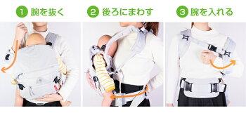angelette(アンジェレッテ)ベビーキャリアオールカラーネイビー抱っこ紐抱っこひもコンパクト新生児おしゃれ腰ベルトおんぶ