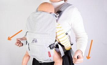 angelette(アンジェレッテ)ベビーキャリアオールカラーブラック抱っこ紐抱っこひもコンパクト新生児おしゃれ腰ベルトおんぶ