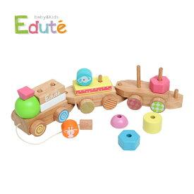 Edute baby&kids(エデュテ ベビーアンドキッズ)ANIMAL プルトイ(アニマルプルトイ) プルトイ 知育玩具 学習玩具積み木 ブロック 棒通し 汽車 木のおもちゃ 男の子 女の子 誕生日 ギフト 出産祝い 18カ月〜 LA-005 J529565
