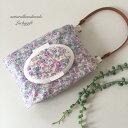2WAYおしりふきポーチ おしりふきケース ウェットティッシュケース フタポン 小花柄×パープル 紫 Luckygift