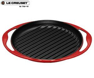ル・クルーゼ/LECREUSET グリルロンド25cm チェリーレッド 20125 (ルクルーゼ:グリルパン)