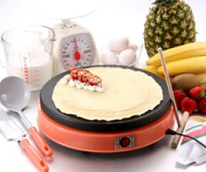 セントラル/CENTRAL 電気クレープメーカー「ドレミ♪」手作りミルクレープに挑戦♪お家がクレープ屋さんに大変身!!パンケーキ、ホットケーキ作りにもオススメの電気クレープパンです