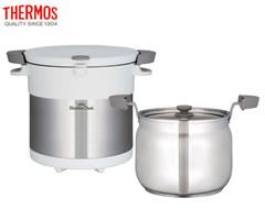 サーモス/THERMOS 真空保温調理器シャトルシェフ KBC-4501 ピュアホワイト (4〜6人用)