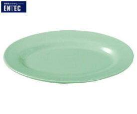 エンテック/ENTEC 青磁 小判皿 リム型 8吋 CS-24 (日本製・国産・メラミン食器・中華食器・千羽鶴印・楕円皿)