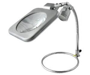 東京セイル スタンド式レンズ LEDライト付き 220K-LED (スタンドルーペ・虫眼鏡・虫めがね・TSK)