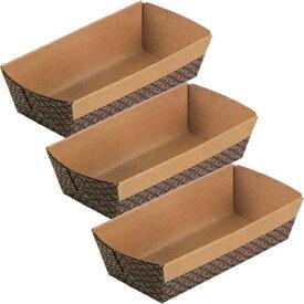 霜鳥製作所/QueenRose ペーパーボート パウンドケーキ焼型S 3枚入 PB-0023 (クイーンローズ・ベークウェア・紙の焼き型・紙型・パウンドケーキ型・製菓道具)