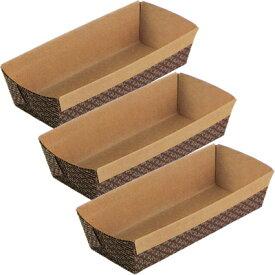 霜鳥製作所/QueenRose ペーパーボート パウンドケーキ焼型M 3枚入 PB-0022 (クイーンローズ・ベークウェア・紙の焼き型・紙型・パウンドケーキ型・製菓道具)