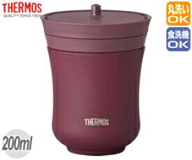 サーモス/THERMOS 真空断熱湯呑み JCZ-200 あずき