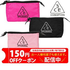 【+100円で翌日到着】韓国コスメ 3CE POUCH_SMALL 3CEポーチ 化粧ポーチ ペンケース 小物入れ ブラック ピンク smallサイズ