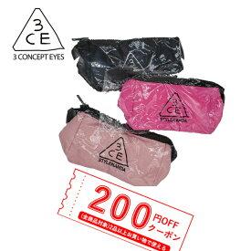 【発送日の翌日届く】韓国コスメ ポーチ 3CE POUCH_SMALL 3CEポーチ 化粧ポーチ ペンケース 小物入れ ブラック ピンク smallサイズ