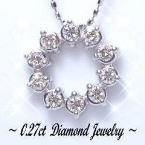 【大特価】K18YG/PG/WG【0.27ct】サークルダイヤモンドペンダント ネックレス ハートアンドキューピット【SIクラス】透明感溢れるダイヤモンドサークル 18金 18k ゴールド サークルペンダント 可