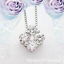 あす楽☆豪華 pt900【1.0ct】フラワー ダイヤモンド ペンダント ネックレス 『Princessclover』1カラット[VS〜SIクラ…