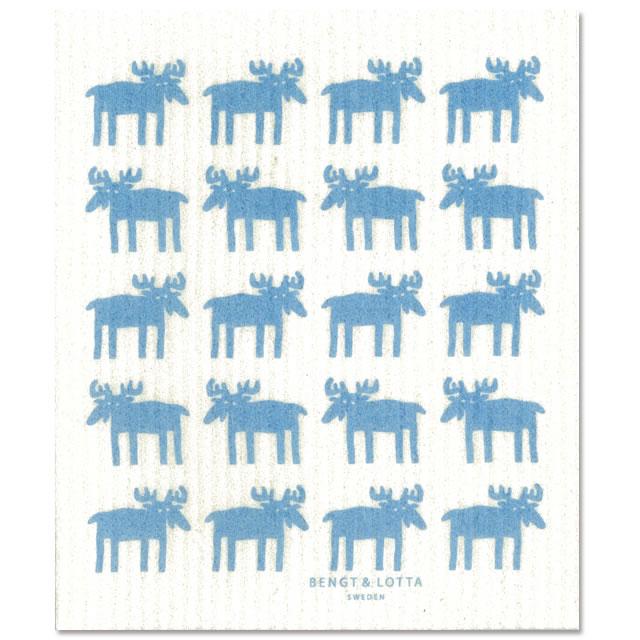 【メール便OK】Bengt&Lotta ムース ライトブルー 北欧スポンジワイプ (フローレンまたは スリーピングムーミン)(布巾ふきんオブラブ(セルクロス)ふきん ギフト