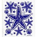 【1731円以上メール便で送料無料】北欧スポンジワイプ ヤングネウス スターフィッシュ ブルー JANGNEUS(布巾ふき…